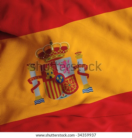 Close up of the Spanish flag
