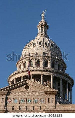 Close-up of the State Capitol in Austin, Texas - stock photo