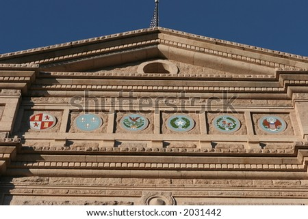 Close-up of the Texas State Capitol in Austin - stock photo