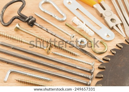 Close up of the various tools - stock photo