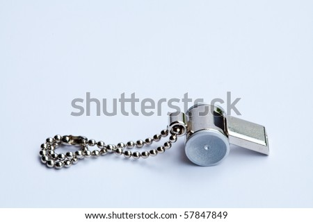 close up of the whistle - stock photo