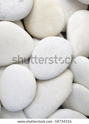 close-up of the white pebbles - stock photo