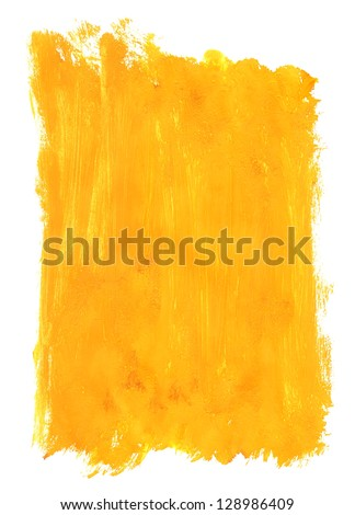 Close up of the yellow paint strokes - stock photo