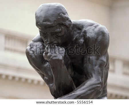 Close up of Thinker - stock photo
