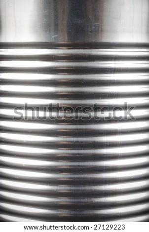 close up of tin can - stock photo