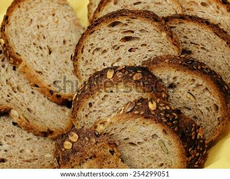 Close-up of toast bread - stock photo