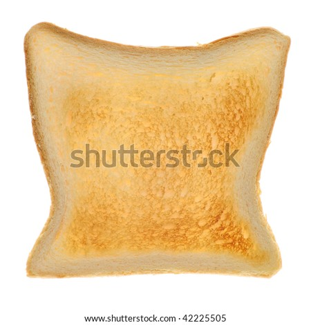 Close-up of toasted bread - isolated on white - stock photo