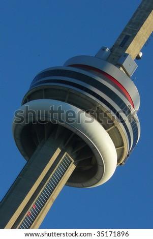 Close up of Toronto CN Tower / cityscape - stock photo