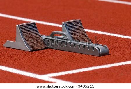 Track Race Start Track Race Starting Blocks