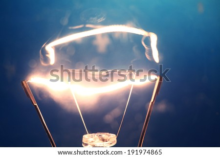 Close up of  Tungsten Bulb - stock photo