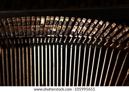 Close up of Typewriter - stock photo