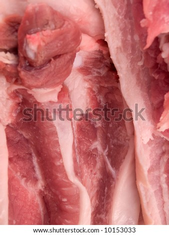 Close up of uncooked meat - stock photo