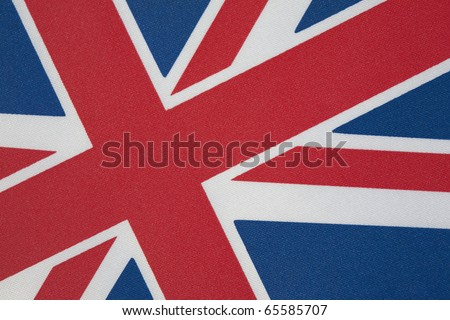 Close up of Union Jack on Tilted Angle - stock photo