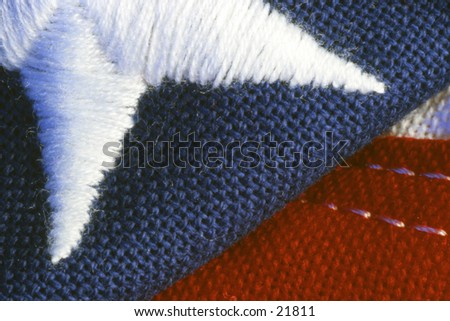 Close-up of United States flag