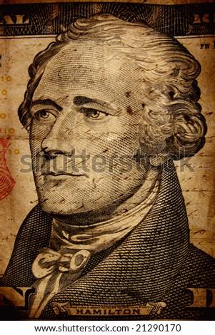 Close up of US dollar - stock photo