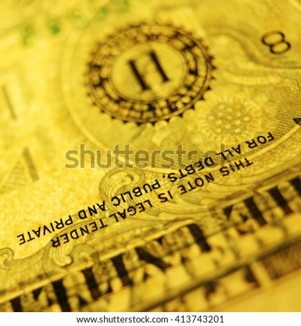 Close up of US dollar