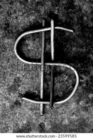 Close up of US dollar mark - stock photo
