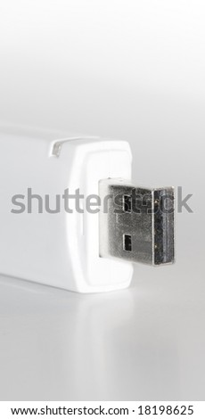 Close up of USB device - stock photo