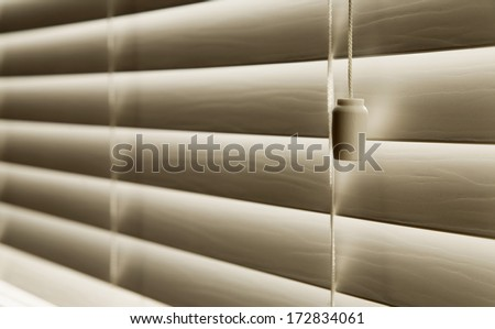 Close Up Of Venetian Blinds - stock photo