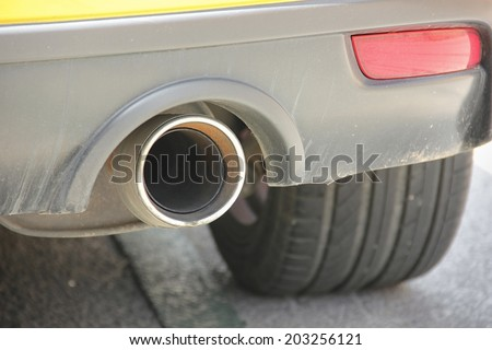 Close-up of vent pipe. - stock photo