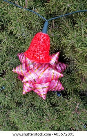 Close-up of very beautiful Christmas-tree decorations - stock photo