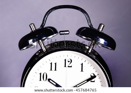close up of vintage alarm clock - stock photo