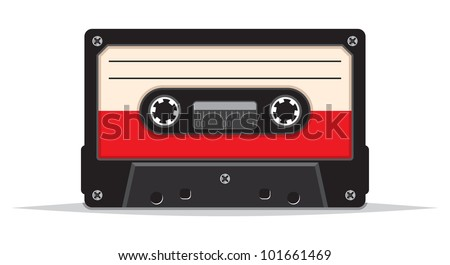 close up of vintage audio tape - stock photo