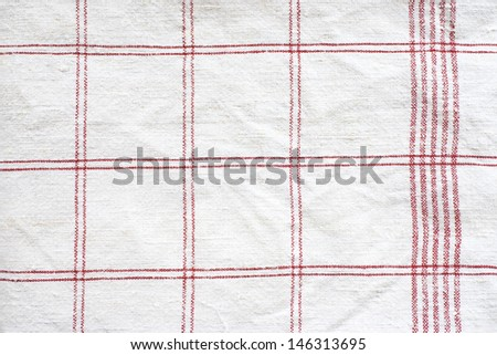 close up of vintage checkered towel - textured background - stock photo