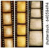 Close up of vintage movie film strip - stock photo