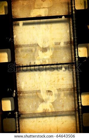 Close up of vintage movie film strip - stock photo