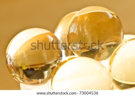 close up of vitamin oil capsules - stock photo