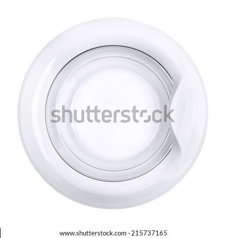 Close up of washing machine door isolated on white - stock photo