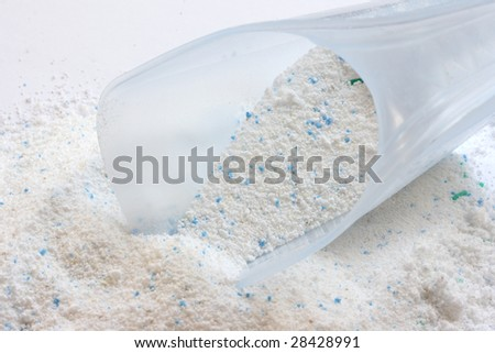 Close-up of washing powder granules - stock photo
