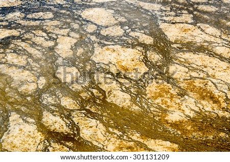 Close up of Water at Yellowstone National Park - stock photo