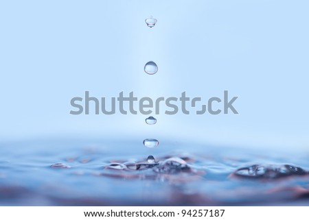 Close up of water drops. - stock photo