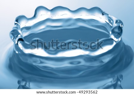 close-up of water splash