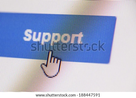 Close up of web Icon on LED screen - stock photo