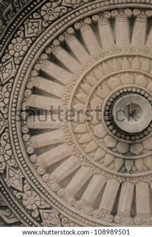 Close up of wheel of buddha - stock photo