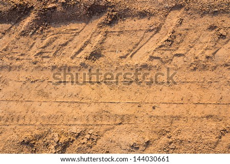 Close up of wheel track - stock photo