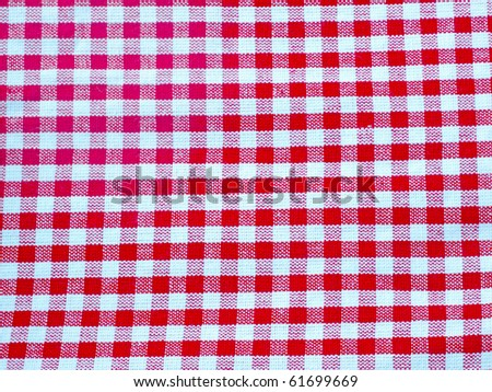 Close up of white and red classical cloth, ideal for background - stock photo