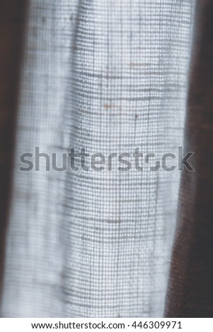 close up of white linen textured cloth background is suitable for use paste text and illustrations. - stock photo