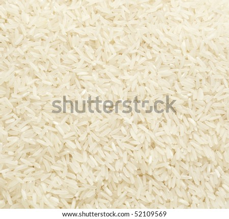 close up of white rice cereal food - stock photo