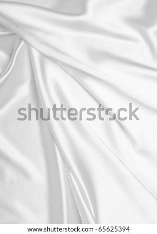 close up of white silk textured cloth background - stock photo