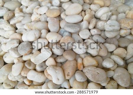 close up of white stone - stock photo
