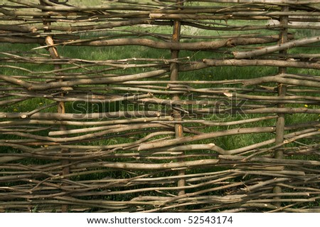 Close-up of wicker fence - stock photo
