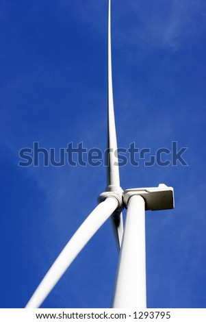 close up of windmill - stock photo