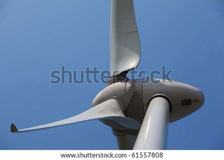 Close up of windmill - stock photo
