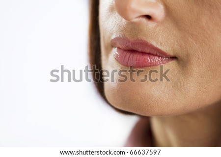 Close-up Of Woman Mouth - stock photo