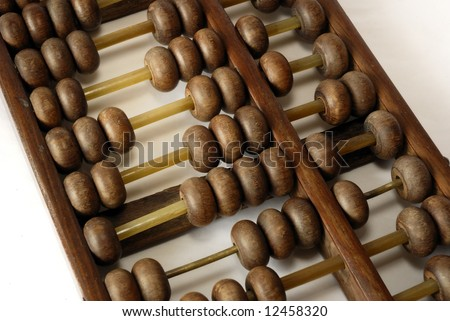 close up of wooden abacus