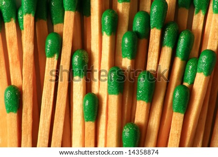 Close up of wooden matches
